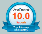 Avvo's best rating 10.0 for Virginia Bankruptcy Lawyer Robert Weed